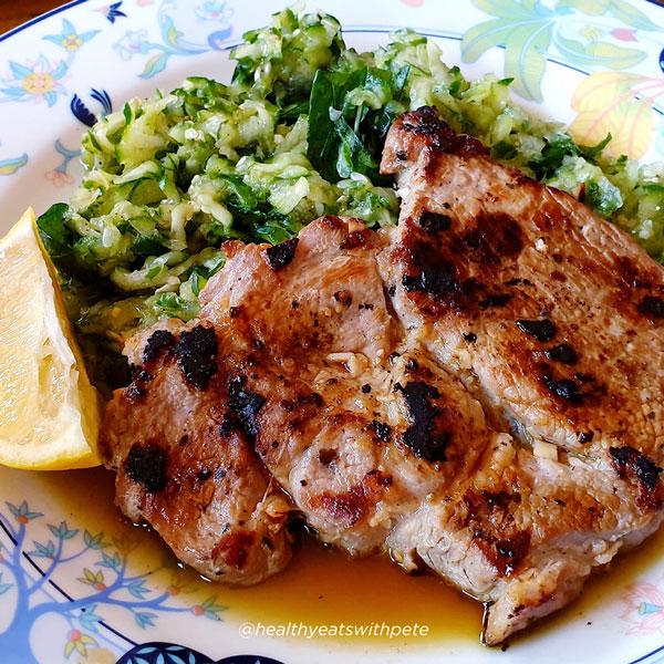 Garlic Pork and Cucumber Salad